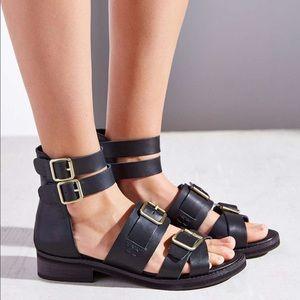 Kelsi Dagger Leather Buckle Sandals